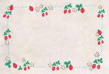 苺のモチーフラインが可愛いカード